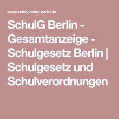 SchulG Berlin - Gesamtanzeige - Schulgesetz Berlin | Schulgesetz und Schulverordnungen