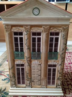 Eric Lansdown dollhouse, beautiful painted houses. .....Rick Maccione-Dollhouse Builder www.dollhousemansions.com