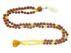 Yoga Gifts- Yellow Jade Rudraksha Prayer Beads Japa Mala, Chakra Pendant Mogul Interior http://www.amazon.com/dp/B00X5EGXH2/ref=cm_sw_r_pi_dp_acKvvb1ESDAXY