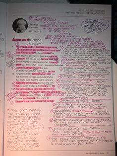 Storm on the island analysis English Gcse Revision, Exam Revision, Revision Notes, Study Notes, School Organization Notes, School Notes, Storm On The Island, English Literature Poems, Gcse Poems