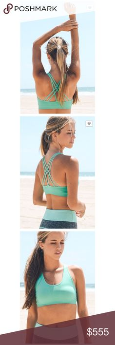Mint Strappy Back Sports Bra NEW Strappy Back Sports Bra Look stylish while you work out in this active wear basic.  92% Nylon. 8% Spandex.   Available in 2 size:  XS/S and M/L  🐶 Intimates & Sleepwear Bras