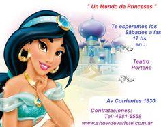 PROMO ENTRADAS GRATIS !!!  Dale me gusta a la página oficial en Un Mundo de Princesas  Luego compartí esta foto y ya estarás participando del sorteo de 2 entradas GRATIS para el Sábado 27 de Junio a las 17 hs ( Comparti la foto desde hoy y hasta el viernes 26 a las 21 hs)  Cuantas más veces compartas la fotos, más posibilidades de Ganar!!! Sorteo: Viernes 26 de Junio a las 21 hs Teatro Porteño Av Corrientes 1630 Sábado 27 de Junio a las 17 hs Todos los Sábados a las 17 hs…