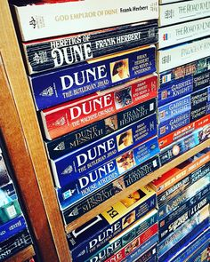 My favourite series of all time #eastonsbooks #books #DUNE #frankherbert #paperback #iphoneonly #vscocam by jeffkew