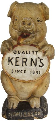 Extremely Rare Kern's Paper Mache Pig : Lot 40