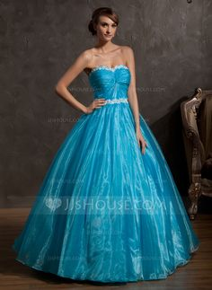 Quinceanera Dresses - $156.49 - Ball-Gown Sweetheart Floor-Length Organza Quinceanera Dress With Ruffle Lace (021014937) http://jjshouse.com/Ball-Gown-Sweetheart-Floor-Length-Organza-Quinceanera-Dress-With-Ruffle-Lace-021014937-g14937