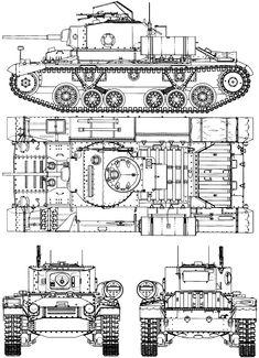 Valentine tank blueprint