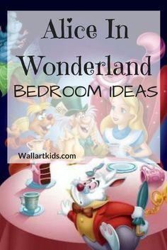 Alice In Wonderland Bedroom Ideas http://wallartkids.com/alice-in-wonderland-bedroom-ideas