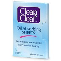 Clean & Clear Oil-Absorbing Sheets, 50-Count Sheets (Pack of 4)