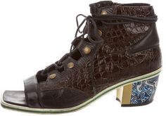 Rodarte Lace-Up Square-Toe Booties Lace Up, Toe, Booty, Stylish, Sneakers, Fashion, Tennis, Moda, Swag