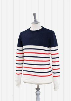 Shades of Grey Parisian Stripe Sweater | Men of Ilk