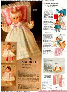 """My """"Cindy"""" doll  1971 Sears Christmas Book, Page 30 - Christmas Catalogs & Holiday Wishbooks Christmas Catalogs, Christmas Books, Christmas Wishes, Vintage Christmas, Christmas Gifts, Old Dolls, Antique Dolls, Vintage Advertisements, Vintage Ads"""