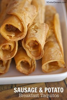 Sausage Potato Breakfast Taquitos ~ part of our 31 Days of Breakfasts ...