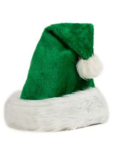 4792aef2ee45d4 Luxury Santa Hat Christmas Ski Winter Plush Green Super Soft St Nicholas  Xmas Green Santa,