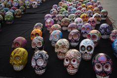 Hand painted sugar skulls