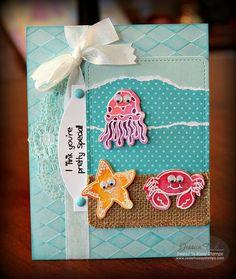 Sweet 'n Sassy Stamps used: Happy Ocean Friends stamps and coordinated dies.