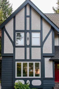 Addition renovation of 1930 39 s tudor home family room - Tudor revival exterior paint colors ...