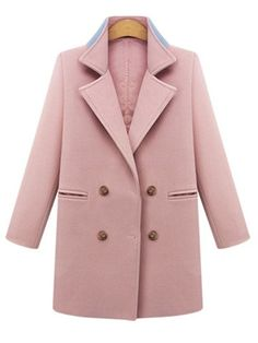 Trendy Polo Collar Breasted With Pockets Plain Overcoats Only $35.95 USD More info...
