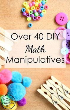 Over 40 DIY Math Man