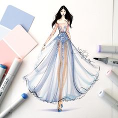 Fashion Illustration Design Color of the Year - 2016 Fashion Tutorial Fashion Illustration Tutorial, Illustration Mode, Fashion Illustration Sketches, Fashion Sketchbook, Fashion Sketches, Fashion Prints, Fashion Art, New Fashion, Trendy Fashion