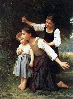 Dans le bois - Elizabeth Jane Gardner Bouguereau (1837 – 1922, American)