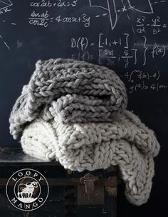 Loopy Mango Chunky Knit throws