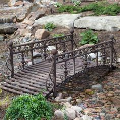 6 Ft Metal Garden Bridge