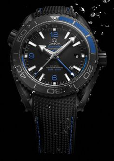 Omega Seamaster Planet Ocean GMT Deep Black Watches In Ceramic Watch. I love them . 46 mm; 600 meters waterproof, gmt and all black well done Omeg