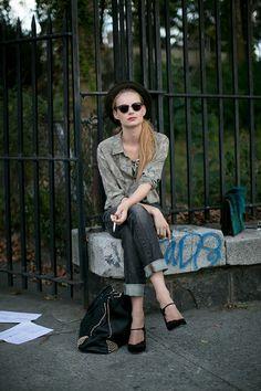 Model off-duty street style in New York
