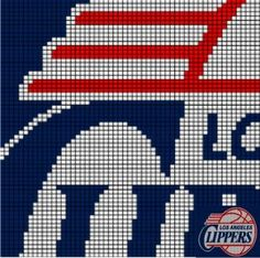 LA CLIPPERS - CC12 via Loopaghans Custom Crochet. Click on the image to see more!