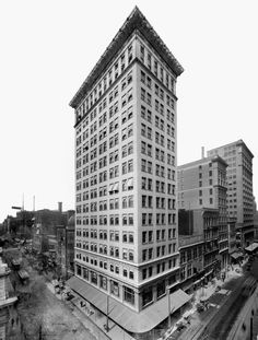 Ingalls Building, 1903, Cincinnati; Elzner & Anderson; First steel reinforced concrete skyscraper (LOC image)