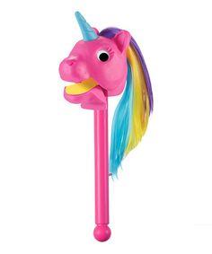 Another great find on #zulily! Pink Rainbow Prancer Unicorn Puppet Toy #zulilyfinds
