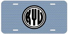 Personalized Monogrammed Chevron Blue Black Bold License Plate Auto Tag Top Craft Case http://www.amazon.com/dp/B00N024Y8Y/ref=cm_sw_r_pi_dp_YKotub1376M65
