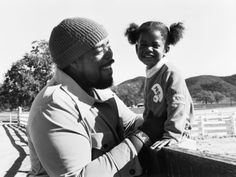 Barry White and his daughter, 1976. Photo by Vandell Cobb