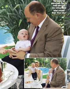 Prince Albert of Monaco and Princess Charlene of Monaco posed for photos with their twins Gabriella and Jacques and gave an interview to Hello! magazine. 07 July 2015.