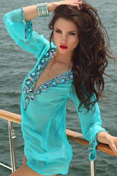 Caribanna Turquoise   Zeugari Beachwear Inc.