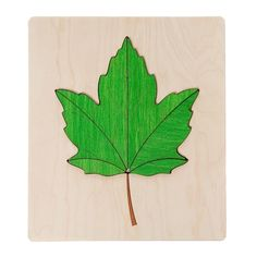 Wooden Jigsaw Puzzle - Maple Leaf
