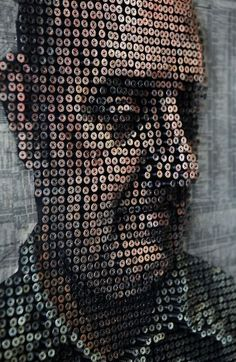 Andrew Myers a California based artist creates phenomenal works of art out of screws – between 8000 to 10,000 screws no less!