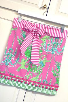 It's Preppy, It's Pretty, It's a Hostess Apron in Lilly Pulitzer Monkey Trouble