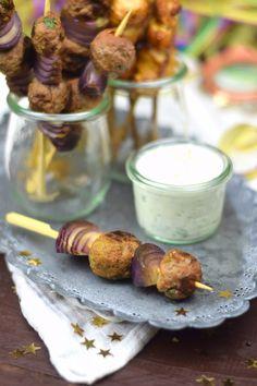 Raclette Spieße Meatballs & Satay & Gemüse & Bacon | Das Knusperstübchen
