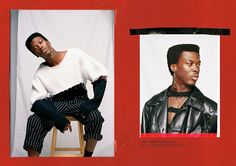 Isaac Chukwumah captured by the lens of Nicole Loucaides and styled with pieces from Ellie Rousseau, in exclusive for Fucking Young! Online. Assistant: Tricia Cooper