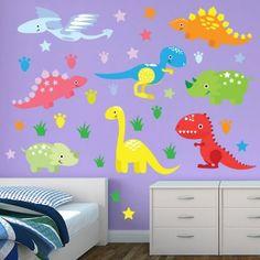 Restickable Dinosaur Wall Decor #BedroomDesign #WallGraphics #KidsRoom #Customized #KidsDecor #Bedroom - $55