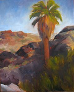 Indian Canyons Plein Air, 10x8, oil on panel, original oil painting by Mandy Main