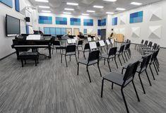 Virco School Furniture, Classroom Chairs, Student Desks School Building Design, School Design, Classroom Design, Music Classroom, Middle School Decor, Classroom Architecture, Choir Room, Student Desks, Home Theater Rooms