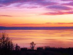 tramonto sul lago di Bracciano