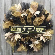 Purdue Boilermakers Wreath Purdue Decor by WelcomingWreathsMore