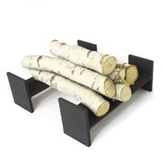 Reclaimed Steel I-beam Fireplace Andiron Set Modern Firewood Andirons for Fireplace Firewood Holder