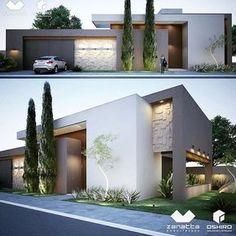 Zanatta e Oshiro Arquitetura - Residência em Dourados/MS - Jardim Mônaco. #fachadasmodernassobrado