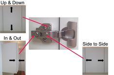 How to adjust kitchen door hinges - http://www.unitsonline.co.uk/