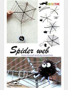 Okul öncesi ponpondan örümcek