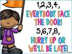 Classroom Transitions Pack - Call Backs, Door Hangers & Line Up Chants Classroom Chants, Classroom Procedures, Classroom Behavior, First Grade Classroom, Kindergarten Classroom, Classroom Management, Classroom Ideas, Line Up Chants, Line Up Songs